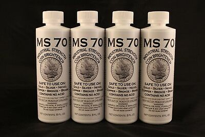 Ms70 Coin Cleaner + Brightener - Gold + Silver + Nickel + Copper - 4 Total