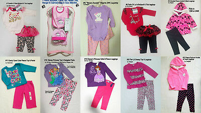 BABY TODDLER GIRLS Old Navy Disney Swiggle 2PC, 3PC SET Tops & Leggings 0-3M- 4T