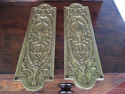 Antique brass Push Plate Door Hardware Brass ornate Design