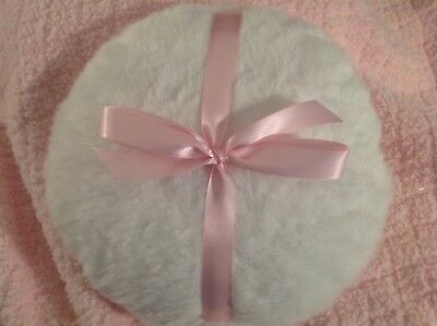 Luxurious large Body powder puff with pink bow, 10 inch body powder puff
