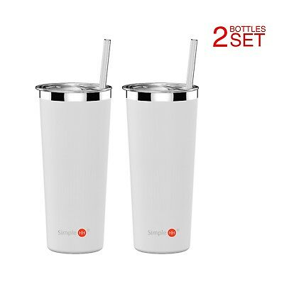 2-Pack 22oz Vacuum Insulated Leak Proof Stainless Steel Coffee Cup| Water Bottle