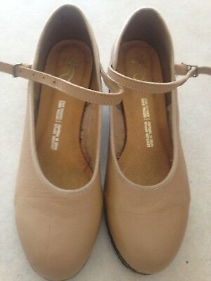 Bloch leather tan tap shoes size 7.5 - good condition - only worn once