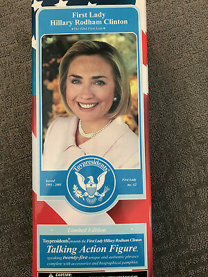 First Lady Hillary Clinton Talking Action Figure Doll Toy Presidents New NRFB
