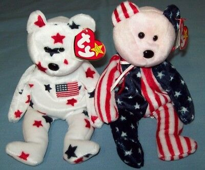 TY Beanie Babies SPANGLE and GLORY; Great Condition (1179)