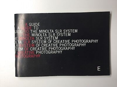 A Guide To The Minolta SLR System