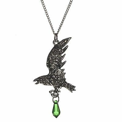 Mythic Celts Bran's Raven Bird Pendant Necklace For Bravery Evermore MY3