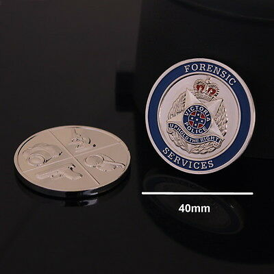 Victoria Police Forensic Services Challenge Coin (social)