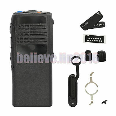 Black Replacement Repair front case Housing for Motorola HT750 radio