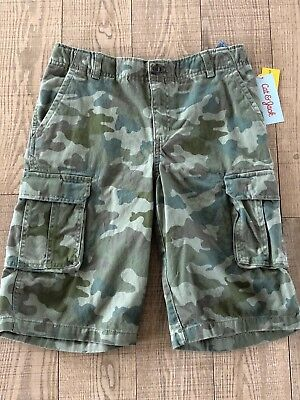 1da518ad6a NEW Cat & Jack Green Camo Cargo Shorts Boys Size 14 Adjustable Waist NWT