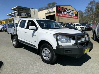 2014 Holden Colorado RG MY14 LX White Manual 6sp M 4D CAB CHASSIS