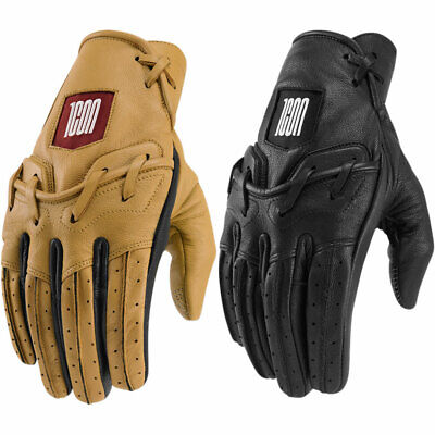 Pick Size 2018 Icon 1000 Mens Akromont Leather Street Motorcycle Gloves