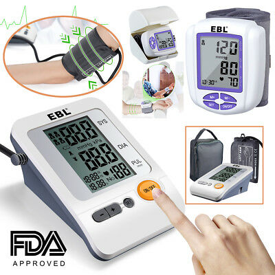 Automatic Digital Arm / Wrist Blood Pressure Monitor BP Cuff Gauge Machine Meter