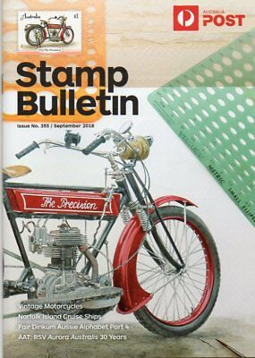 Aust Post Stamp Bulletin Issue #355 September 2018 Vintage Motorcycles New