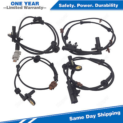 4PCS Front & Rear ABS Wheel Speed Sensor For 2005-2006 Nissan Altima 2.5L 3.5L