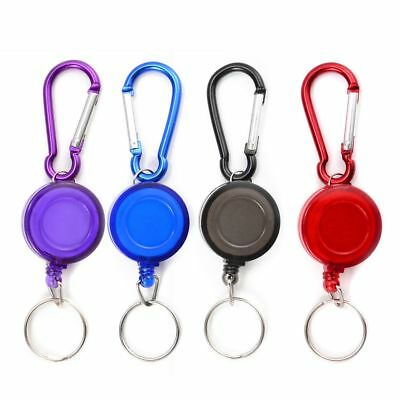 Lot 2 Porte Badge Enrouleur Porte Cle Retractable Mousqueton Clip