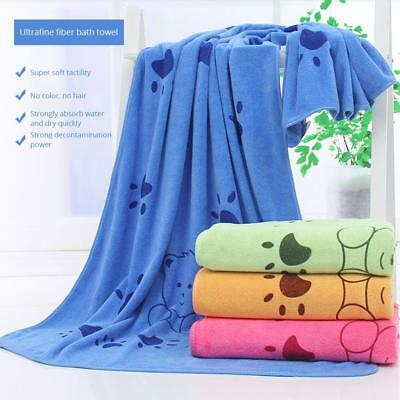 140*70CM Pets Cat Puppy Drying Towel Ultra-absorbent Dog Baby Bath Shower Towel