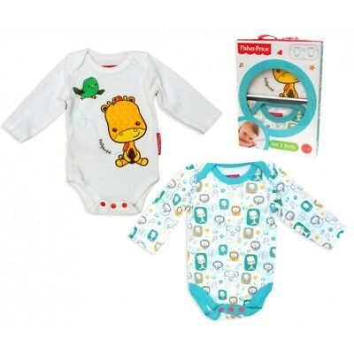 Baby Boys Girls Fisher Price 2piece Bodysuit Jumpsuit Baby grows romper gift set