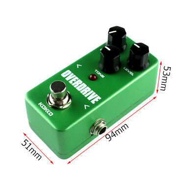 Mini Vintage Overdrive Guitar Effect Pedal Overload Guitar Stompbox FOD3 LY