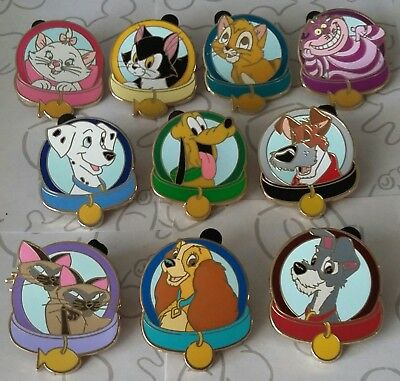 Magical Mystery Pins Series 5 Dog and Cat Collars Disney Pin Make a Set Lot