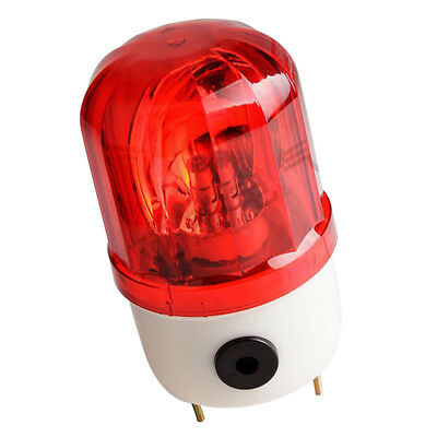 Red Rotary Strobe Light Signal Tower Industrial Alarm Warning Lamp Buzzer