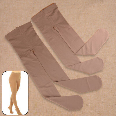 Nylon FOOTED ICE ROLLER SKATING DANCE TIGHTS VARIOUS SIZES NATURAL TAN  S M L