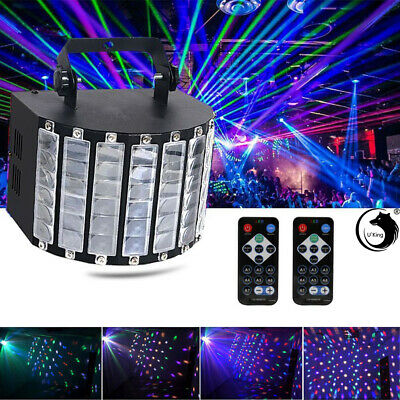30W RGBW LED Stage Light DMX Disco Party Projector Strobe Club DJ Remote Sound
