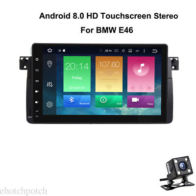 """9"""" Android 8.0 Touchscreen Car Stereo GPS Radio In Dash For BMW E46+Map +Camera"""