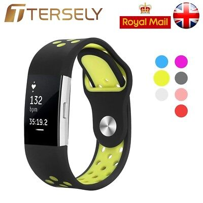 Soft Silicone Replacement Band Spare Sport Bracelet Strap for Fitbit Charge 2