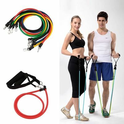 11 in 1 Fitnessbänder Expander-Set Gymnastikband Fitness Yoga Training Latexband