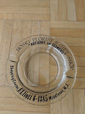 Vintage Hoski Florist And Gift Shop Middlesex, New Jersey Ashtray-Good Condition