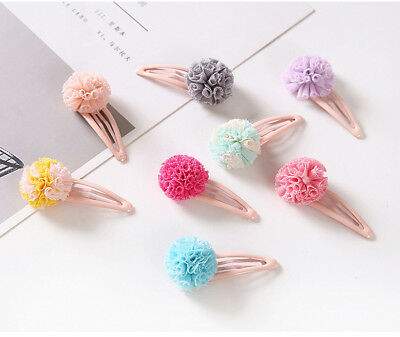 10Pcs Flowers Baby Hair Clips Girl Kids Snap Hairpin Barrettes Accessories