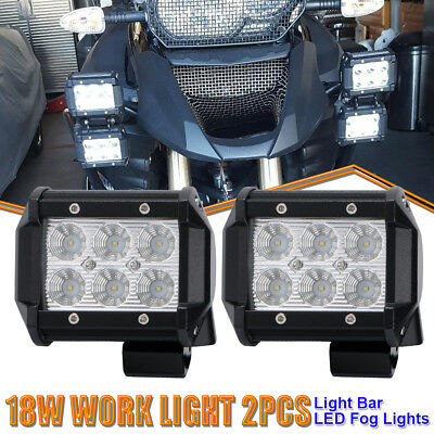 2P 4inch LED Work Light Pods Cube Flood Beam Offroad Light For Sportsman Suzuki