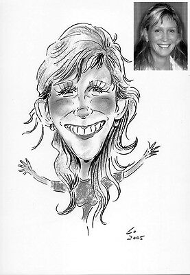 Personalized Caricature of one person from your photo get you Christmas gifts