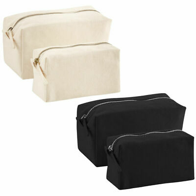Mens Womens Canvas Makeup Travel Toiletry Cosmetic Wash Bag Accessory Case