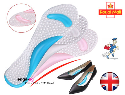 Pair of High Heel Gel Foot Insoles Pads Shoe Cushion Inserts Arch Support
