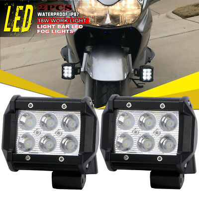 2x 4Inch Spot LED Pods Work Light Driving Offroad UTV 4WD Kymco Utility Kawasaki
