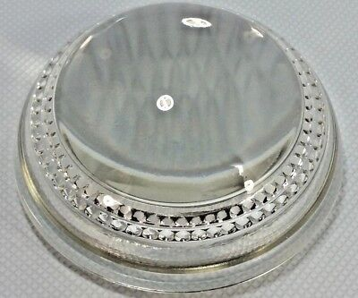 Vintage Desktop Glass Domed Magnifying/Reading Glass With Beaded Accent 4 1/2 in