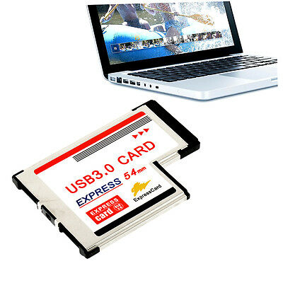 Express Card Expresscard 54mm to USB 3.0x2 PHeißer VerkauB