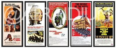 Planet of the Apes Collectable Mini Long Posters from all 5 original movies.