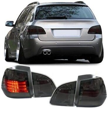 LED Taillights Black For BMW E61 Touring Estate 04-07