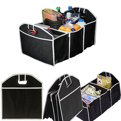 2X 2in1 Car Boot Organiser Shopping Tidy Heavy Duty Collapsible Foldable Storage