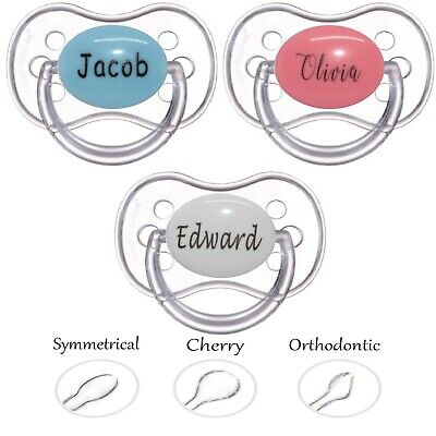 Dummy Personalised *cherry Teat* *can Be Sterilised* Soother Pacifier Dummy