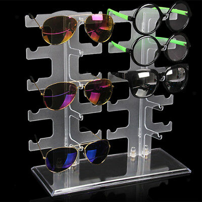 Clear Sunglasses Holder Rack Glasses Show Display Stand Organizer for Home