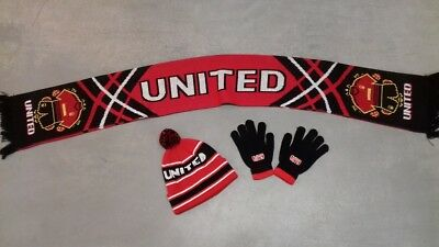 A United Hat A Pair Of  United Gloves And A United Scarf. Christmas Gifts