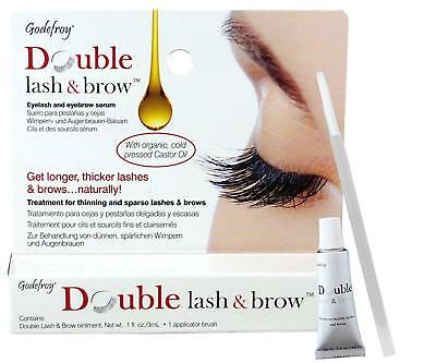 Godefroy Double  Eyelash & Eyebrow Serum Ointment For Longer Thicker Lash & Brow