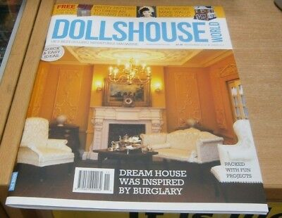 Dollshouse World magazine Nov 2018 Dream house inspired by burglary + Bricks
