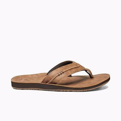 Reef Men's Marbea Vegan Leather FlipFlops Sandal Shoe Brown Size 8-11 NEW IN BOX
