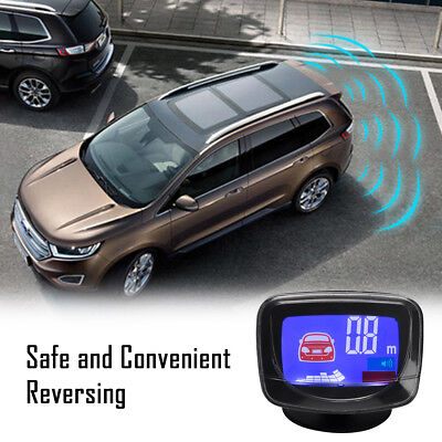 Car Reverse Parking Sensor Radar Rear Sensors LCD Display Audio Buzzer Alarm