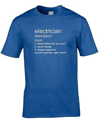 Electrician Definition Mens T-Shirt Sparky Gift Idea World Work Job Occupation