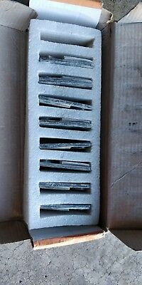 Trapezoid HTC Style Grinding Shoe / Disc / Plate  - 30/40 Grit CPS Set of 8